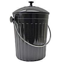 Augusta Milano 1.3 Gallon Compost Bin - Charcoal