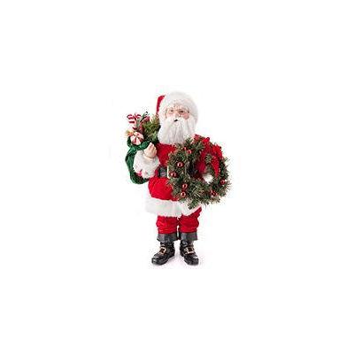 Fabric Santa with Wreath -32