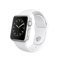 Apple Computers Apple Watch 38mm Silver Aluminum Case with White Sport Band - MJ2T2LL/A