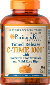 Puritan's Pride 2 Units of Vitamin C-1000 mg with Rose Hips Timed Release-250-Tablets