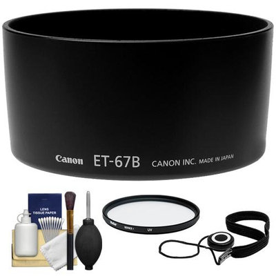 Canon ET-67B Lens Hood for EF-S 60mm f/2.8 Macro with UV Filter & Accessory Kit