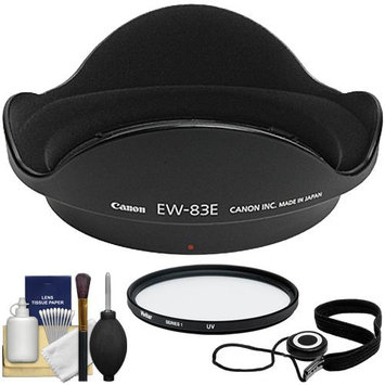 Canon EW-83E Lens Hood for EF 16-35mm f/2.8L 17-40mm f/4L EF-S 10-22mm USM with UV Filter & Accessory Kit