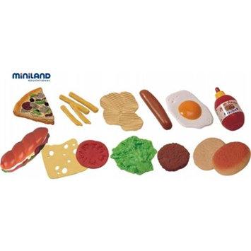 Miniland Educational 30685 Fast food assortment 19 pieces / Jar