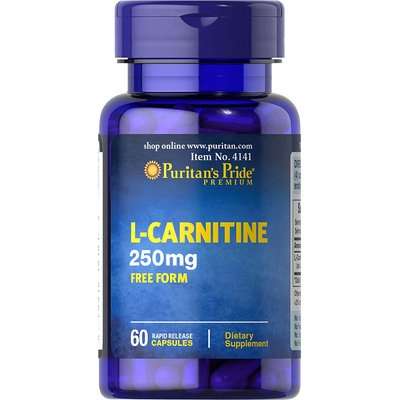 Puritan's Pride 2 Units of L-Carnitine 250 mg-60-Capsules