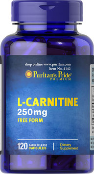 Puritan's Pride 2 Units of L-Carnitine 250 mg-120-Capsules