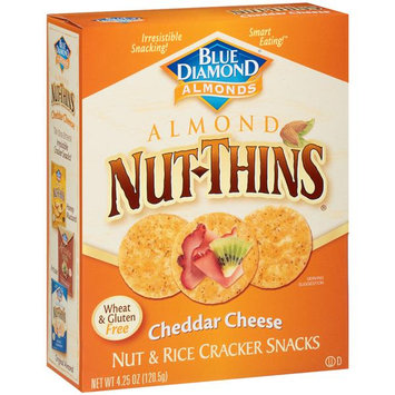 Blue Diamond Natural Almond Nut-Thins Cheddar Cheese Nut & Rice Cracker Snacks
