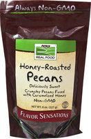 NOW Foods Honey-Roasted Pecans 8 oz