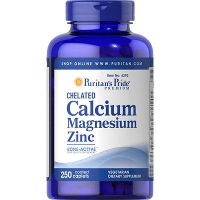 Puritan's Pride Chelated Calcium Magnesium Zinc-250 Caplets