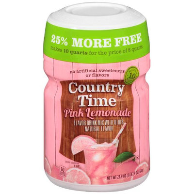 Country Time Drink Mix (makes 2-Gallon), Pink Lemonade, (Pack of 5)