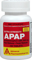 Advanced Pharmaceutical Inc. Non-Aspirin Pain Reliever 500 mg-100 Tablets