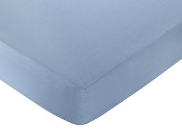 Jo Jo Designs Sweet Jojo Designs Nautical Nights Collection Fitted Crib Sheet - Light Blue