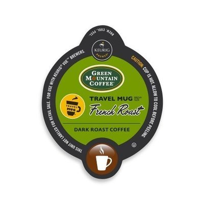 Green Mountain French Roast Coffee Travel Mug Keurig Vue Portion Pack, 12 Count