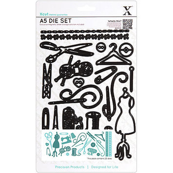 Docrafts Xcut A5 Die Set, 20/pcs, Haberdashery