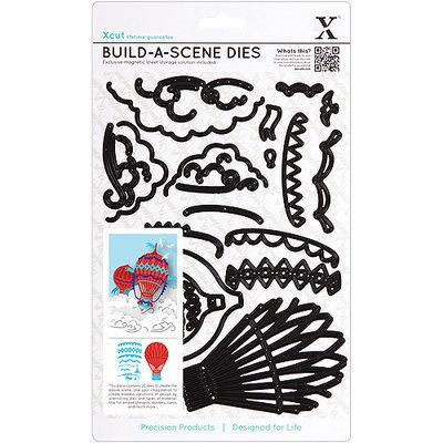 Docrafts Xcut Build-A-Scene Dies, 22/pcs, Vintage Hot Air Balloon
