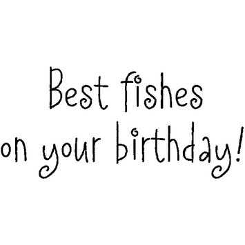 Inky Antics Mounted Rubber Stamp 1X2-Birthday Fishes 036938 Stampers Anonymous
