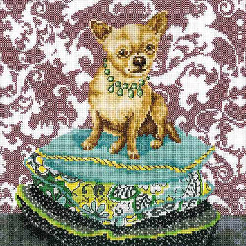 RTO Ginger Chihuahua Counted Cross Stitch Kit