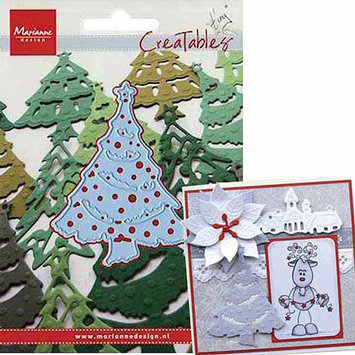 Ecstasy Crafts Marianne Designs Creatables Die-Christmas Tree 3