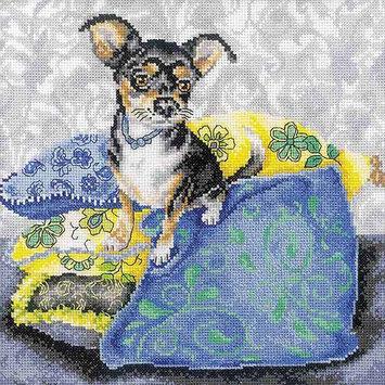 RTO Black Chihuahua Counted Cross Stitch Kit