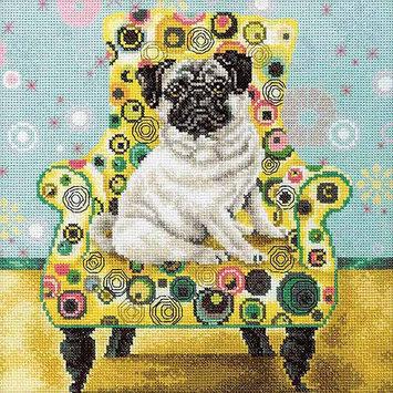 RTO Pug Counted Cross Stitch Kit