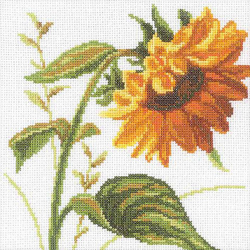 Rto Sunflowers Counted Cross Stitch Kit-8X8 14 Count