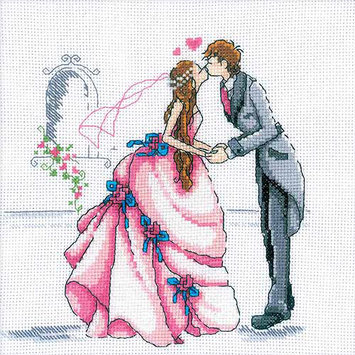 RTO Bride And Groom Counted Cross Stitch Kit