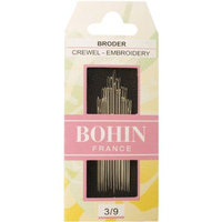Bohin Crewel Embroidery Needles, Size 3/9, 15 Per Package 072258