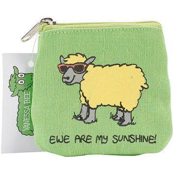 Dublin Gift JB28 Vanessa Bee Coin Purse-Ewe Are My Sunshine