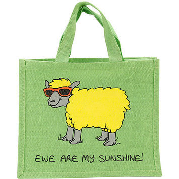 Dublin Gift JB1 Re-Usable Shopping Bag 12 in. X14 in. X7.5 in. -Ewe Are My Sunshine