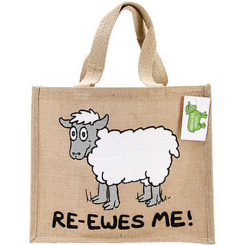 Dublin Gift JB8 Re-Usable Shopping Bag 12 in. X14 in. X7.5 in. -Ewes Me