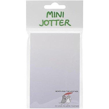 Dublin Gift DG3117 Mini Jotter Note Pad 2.75 in. X5.5 in. -Never Mind The Weather
