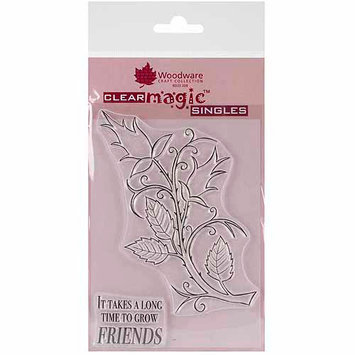 Woodware Craft Collection Woodware Clear Stamps 5.75 X4 Sheet - Twig Wreath