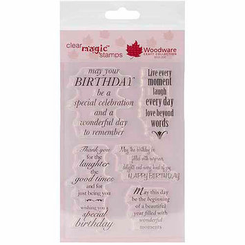 Woodware Craft Collection Woodware Clear Stamp Set - Delightful Verse