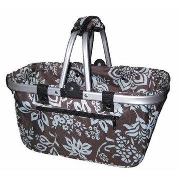 Crafts & Sewing JanetBasket Blue Floral Aluminum Frame Bag - 18