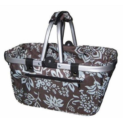 Crafts & Sewing JanetBasket Blue Floral Aluminum Frame Bag - 18