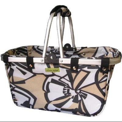 Crafts & Sewing Splendid Large Aluminum Frame Basket - Black Accents