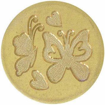 Manuscript Pen Large Decorative Seal Coin - Butterflies & Hearts