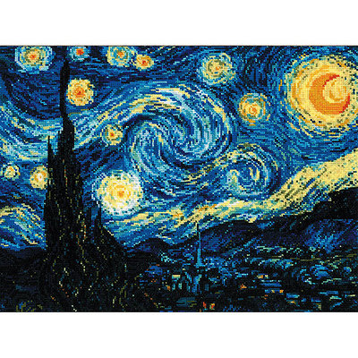 RIOLIS R1088 Starry Night After Van Goghs Painting Counted Cross Stitch-15.75X15.75 14 Count