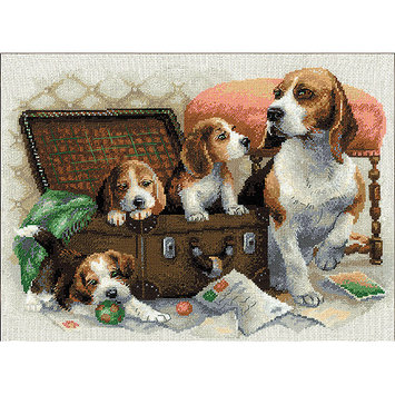 RIOLIS R1328 Canine Family Counted Cross Stitch Kit-15.75