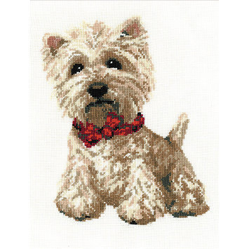 RIOLIS R945 West Highland White Counted Cross Stitch Kit-8