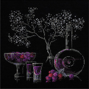 RIOLIS R1276 Still Life With Liquor Counted Cross Stitch Kit-11.75X11.75 14 Count