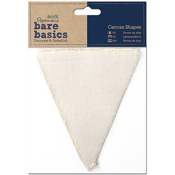 docrafts PM174403 Papermania Bare Basics Canvas Shapes 6/Pkg-Heart