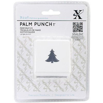 docrafts XC261895 Large Palm Punch-Holly Branch