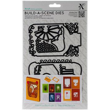 docrafts XC503122 Xcut Build-A-Scene Dies 5/Pkg-Shadow Box Fairground