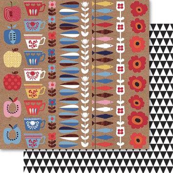 Ruby Rock-it Handi Scandi Double-Sided Cardstock 12X12-Strip It Pack Of 10