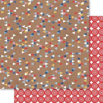 Ruby Rock-it Handi Scandi Double-Sided Cardstock 12X12-Diamonds Pack Of 10