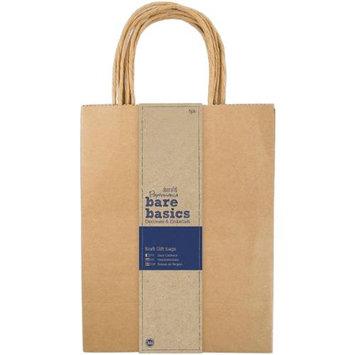 docrafts PM174204 Papermania Bare Basics Gift Bags 8X10.25X4.25 5/Pkg-Kraft
