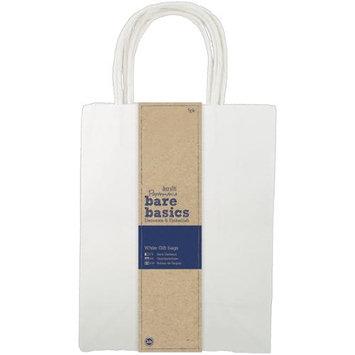 docrafts PM174206 Papermania Bare Basics Gift Bags 8X10.25X4.25 5/Pkg-White