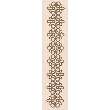 Ecstasy Crafts LC359999 Leane Creatief Border Embossing Folder 1.25X6-Lace Strip