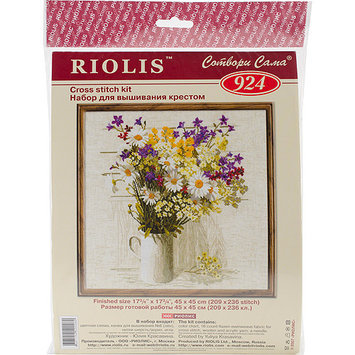 Riolis Wildflowers Counted Cross Stitch Kit-17.75X17.75 15 Count
