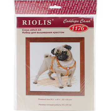 Riolis Pug Dog Counted Cross Stitch Kit-9.75